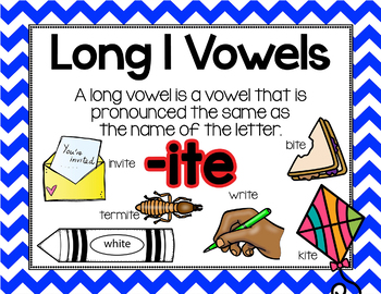 Long Vowel I Word Work {-ite Word Family}