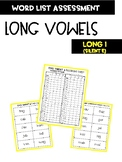 Long Vowel I with silent e Word Assessment