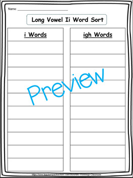 Long Vowel Ii (i_e & igh) - 2 Weeks of Lesson Plans, Activities & Word Work!