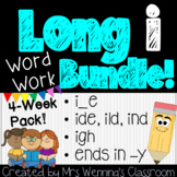 Long Vowel i Bundle - 4 Weeks of Lesson Planners, Activities & Word Work!