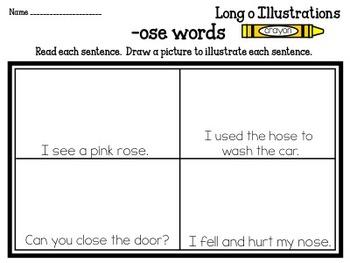 Long Vowel Illustrations Packet