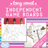 Phonics Word Work: Long Vowel Independent Game Boards
