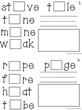 Long Vowel Interactive Logic Book