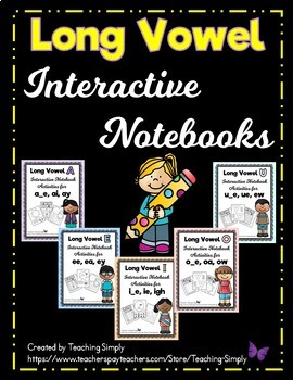 Long Vowels Interactive Notebook BUNDLE