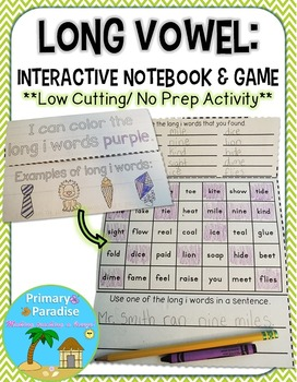 Long Vowel Interactive Notebook & Game