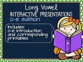 Long Vowel Interactive Presentations for Explicit Instruction (o-e edition)