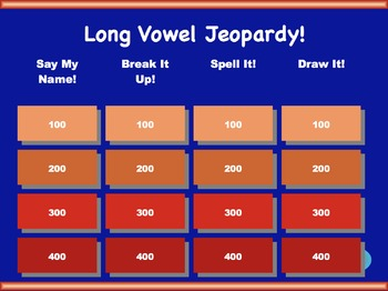 Long Vowel Jeopardy Games! {9 games}