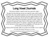 Long Vowel Journals