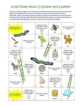 Long Vowel Lesson Plan