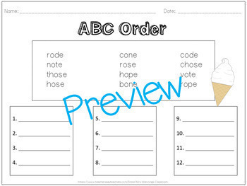 Long O (o_e) - Lesson Plans, Word Work, and Activities!