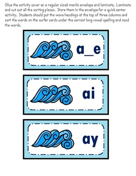 Long Vowel Literacy Center Bundle