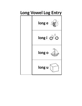 Short and Long Vowel Log Entries
