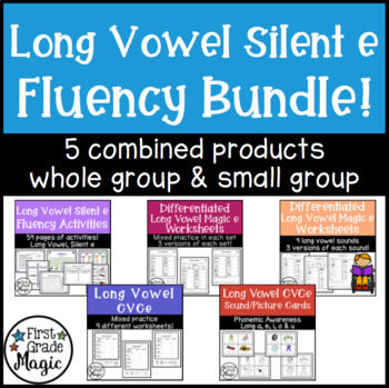 Long Vowel Silent E Bundle! {Small Group Instruction and Intervention}