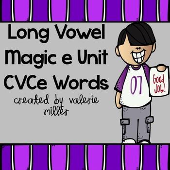 Long Vowel Magic e Fluency Word Work Unit