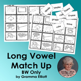 Long Vowel Matching Lotto Boards BW only - Lo prep