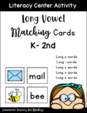 Long Vowel Matching Cards Literacy Center Activity