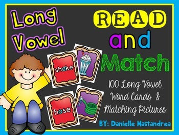Long Vowel Matching Game {Peanut Butter & Jelly Matching}