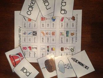 Long Vowel Matching Reading Game (A, E, I, O, U)