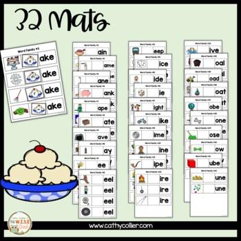 Word Family Long Vowel Mats:  Here's the Scoop