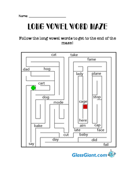 Long Vowel Maze