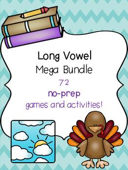 Long Vowel Mega Bundle! [72 no-prep games and activities]