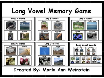 Long Vowel Memory Game