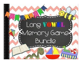 Long Vowel Memory Game Bundle