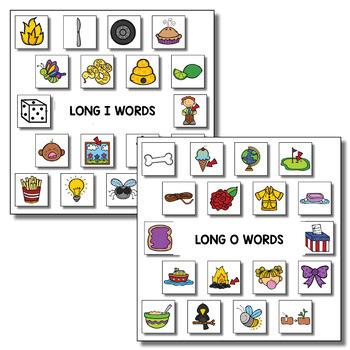 Long Vowel Memory Match Literacy Games BUNDLE
