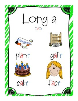 Long Vowel Mini Anchor Charts