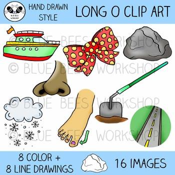 Long O Clip Art - 16 Pieces