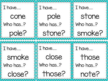 Long Vowel O Game