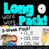 Long Vowel O Bundle! 3 Weeks of Lesson Planners, Activities, and Word Work!