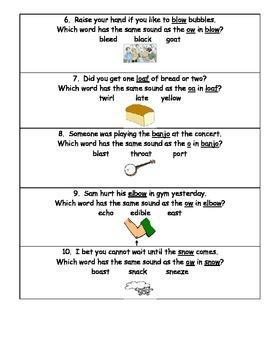Long Vowel O Task Cards