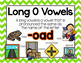 Long Vowel O Word Work {-oad Word Family}