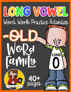 Long Vowel O Word Work {-old Word Family}