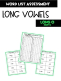 Long Vowel O with silent e Word Assessment