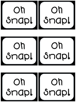 Long Vowel Oh Snap!