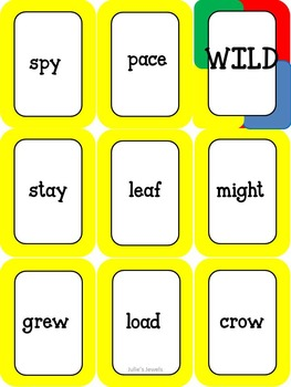 Long Vowel One Left Game (Uno Style)