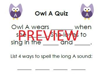 Long Vowel Owls