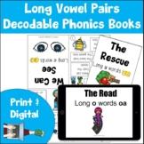 Long Vowel Pairs Decodable Phonics Books | Print and Digital