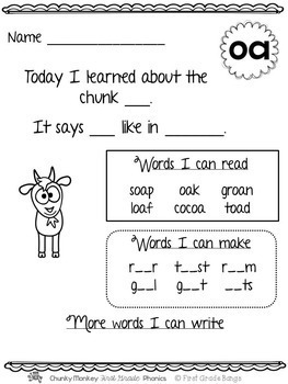 Long Vowel Pairs- Phonics Unit, Word Work and Literacy Center Activities