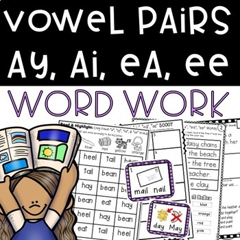 Long Vowel Pairs ai, ay, ea, ee Phonics Suitcase: 8 Print & Go Activities