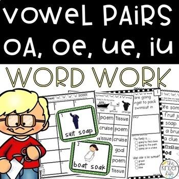 Long Vowel Pairs oa, oe, ue, ui Phonics Suitcase: 8 Print & Go Activities