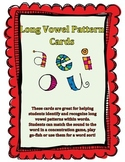 Long Vowel Pattern Cards