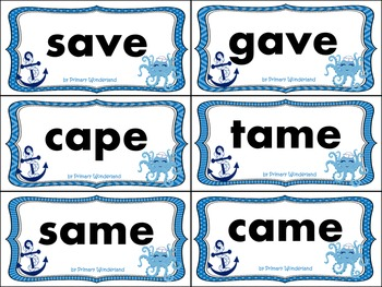 450 Long Vowel Word Sort Cards Ocean Theme