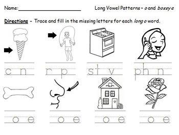 long vowel pattern missing letters worksheets by mrsksclass tpt. Black Bedroom Furniture Sets. Home Design Ideas