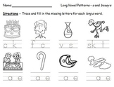 Long Vowel Pattern Missing Letters Worksheets