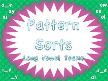 Long Vowel Pattern Sorts