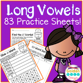 Long Vowel Patterns 83 No Prep Practice Sheets! 21 Spelling Patterns