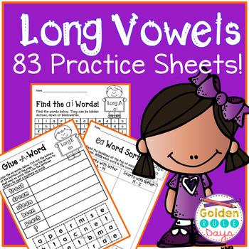 Long Vowel Patterns 83 No Prep Practice Sheets! 21 Spelling Patterns